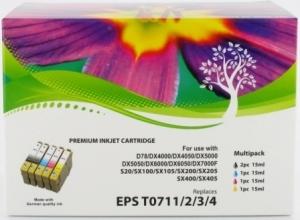 T0715 T0711 T0712 T0713 T0714 cartouche Epson Epson j'et d'encre guépard